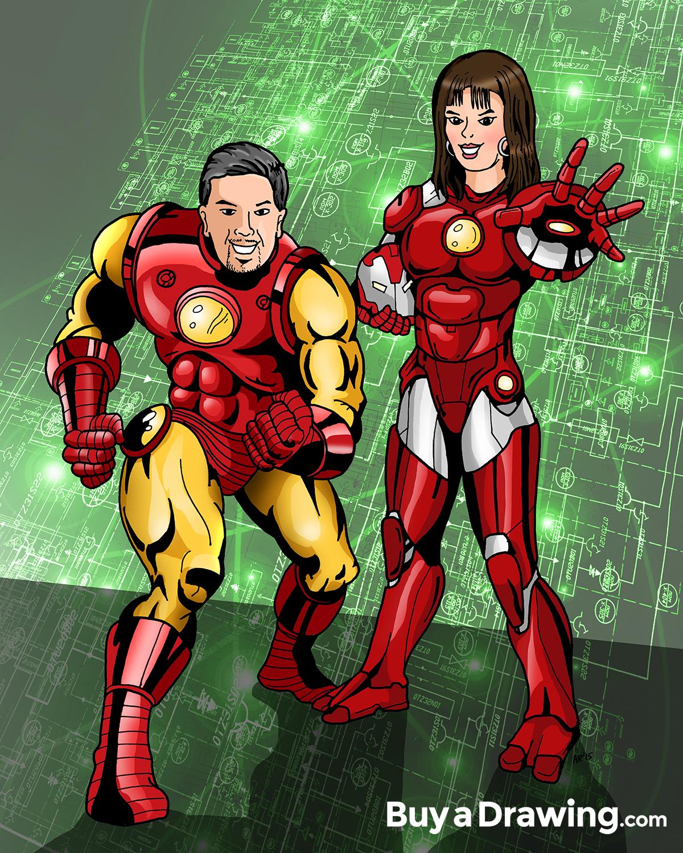 Draw Me as a Superhero: Custom Superhero Cartoon Drawings!